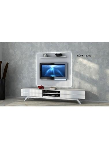 Sanal Mobilya Rüya 1260 Tv Ünitesi Beyaz Beyaz